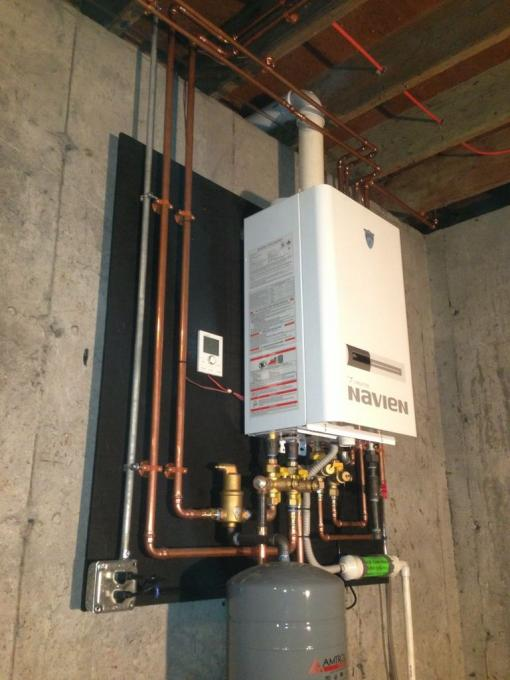 Navien 210 Combi W First Co Ah From Wood Conversion