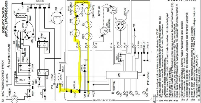 intertherm wiring diagram blower
