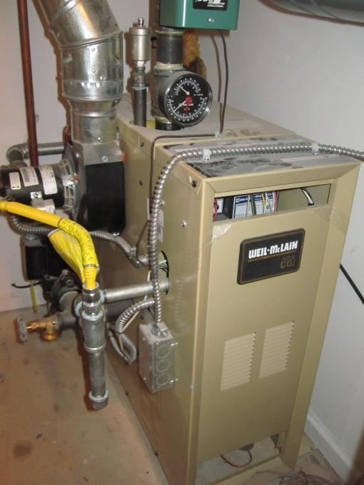 Weil Mclain gas boiler cga-3 - loud blower