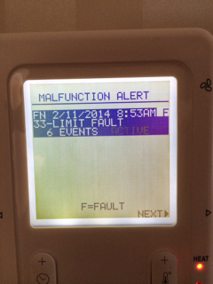 Carrier Infinity 58MVC - system malfunction