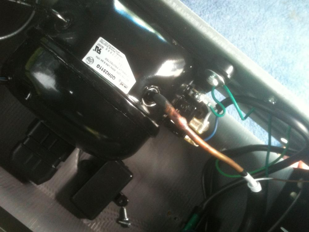 installing a hard start capacitor kit on a compact refrigerator attached images