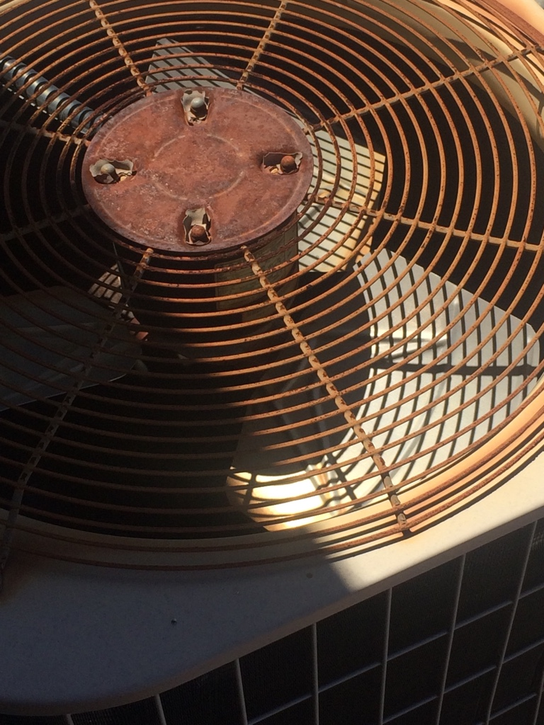 Condenser fan running backwards
