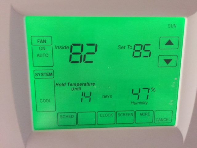 Can't stop fan from running on Honeywell Thermostadt
