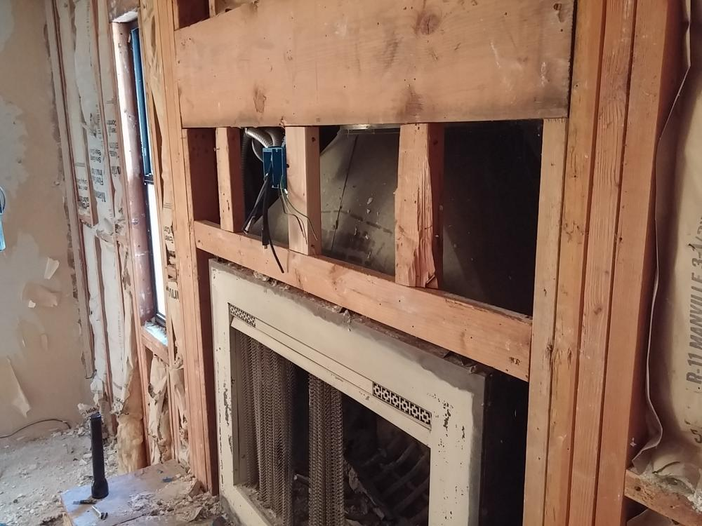 Fireplace Design fireplace cement : Standard Drywall around fireplace, or cement board?