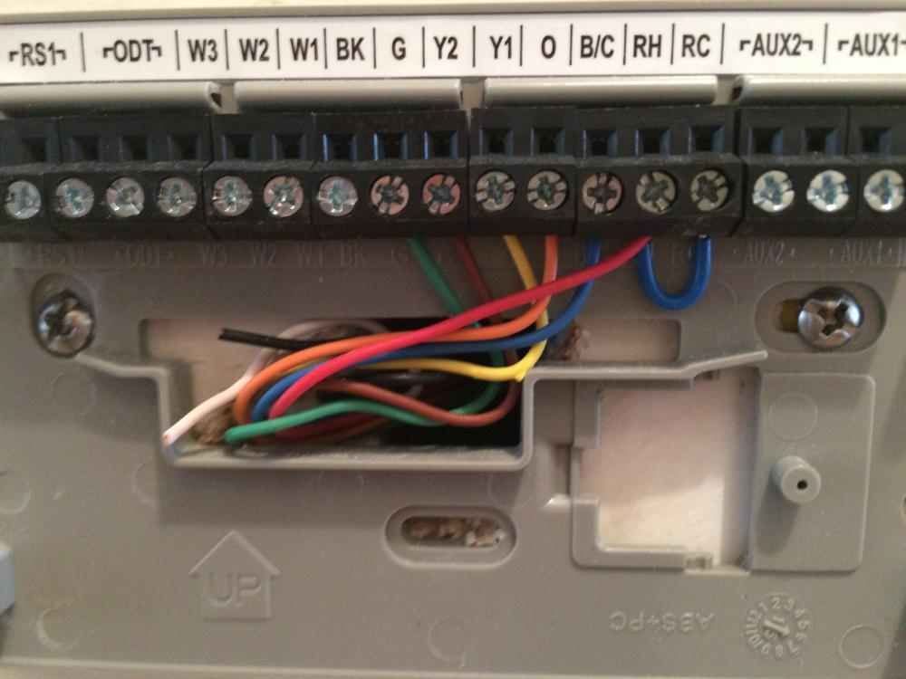 american standard trane heat pump air handler thermostat not attached images