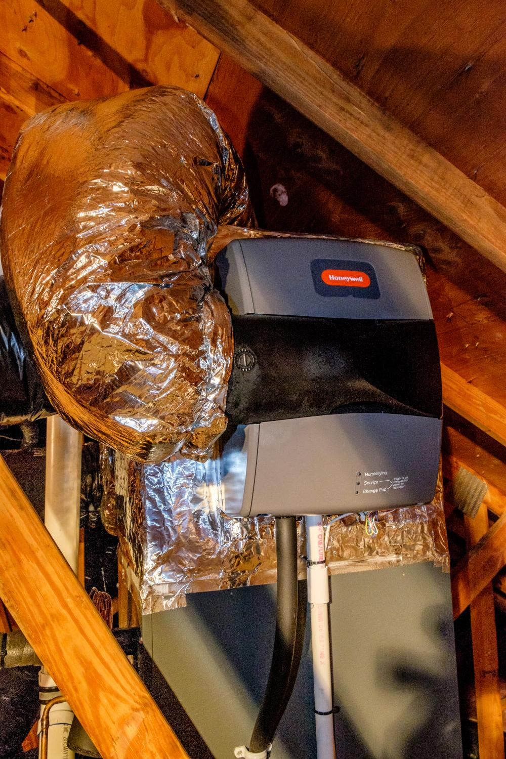 Bypass Humidifier In Attic