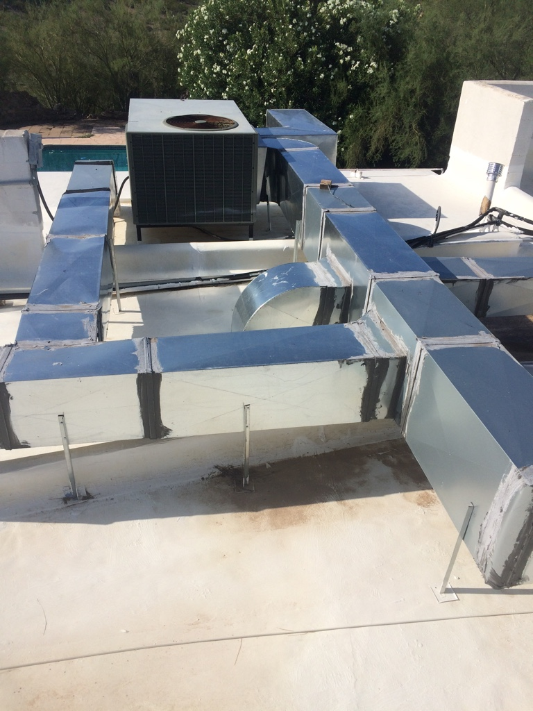 Running Ac Ducts On Roof