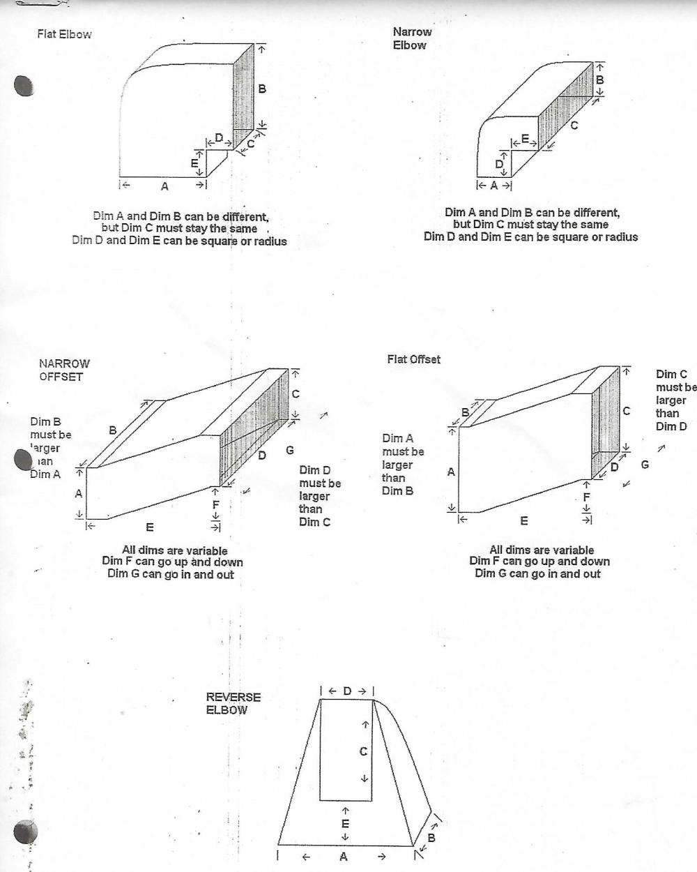Transition Ductwork Hvac Duct Drawing Attached Images