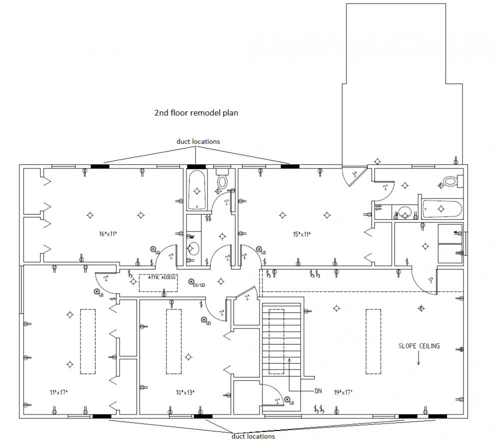 Routing Ducts Through Walls Hvac Duct Drawing Name Floorplan Views 30 Size 729