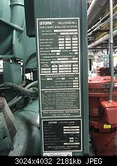Click image for larger version.  Name:Chiller #1 Nameplate.JPG Views:45 Size:2.13 MB ID:823936