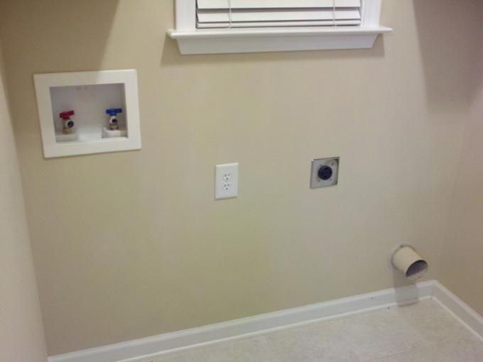installing dryer 2 3 away from wall with preinstalled